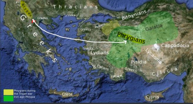 phrygian language